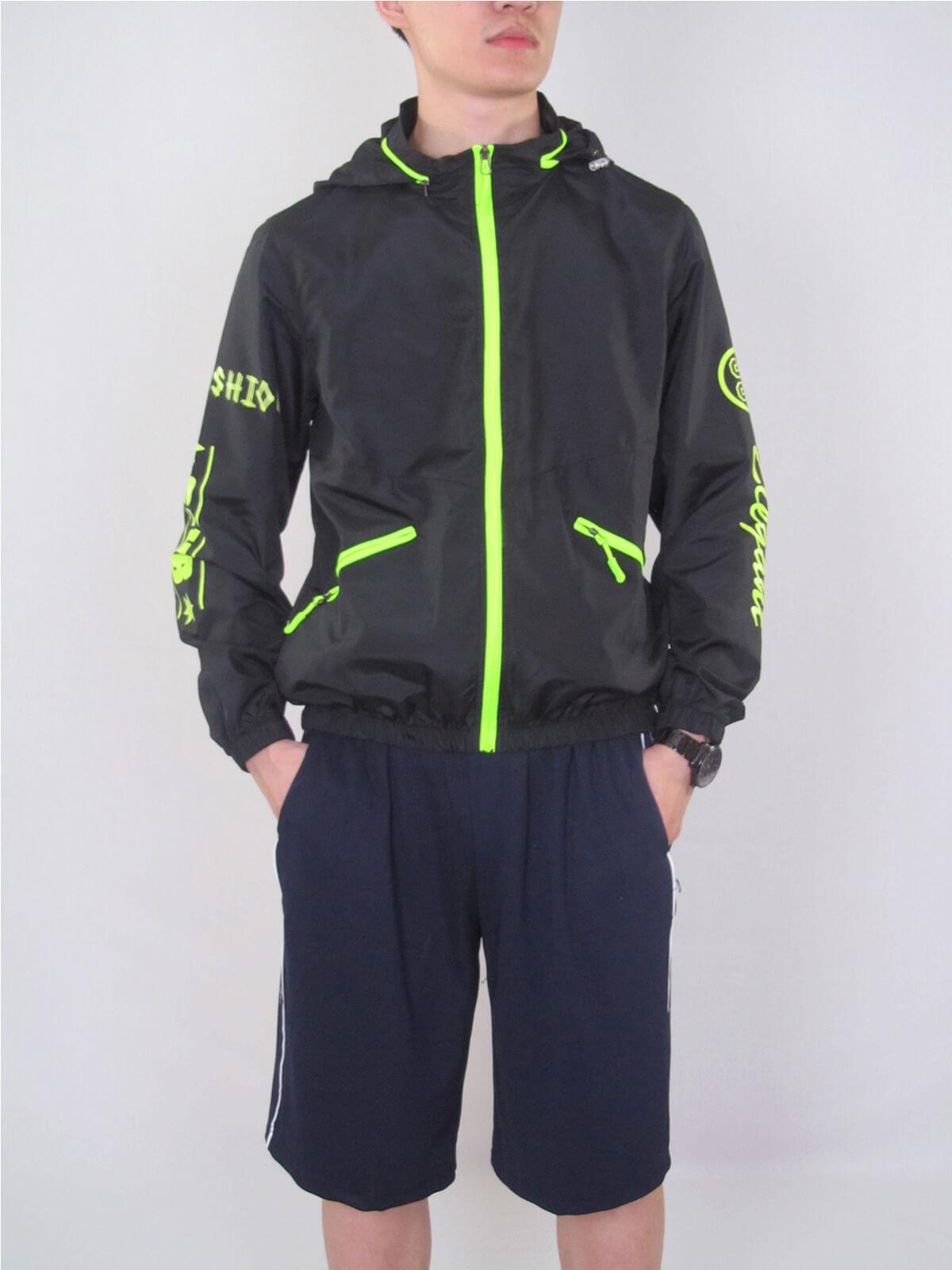 配色薄外套 遮陽防曬休閒外套 防風外套 運動暖身外套 風衣外套 JACKET (321-8878-01)螢光綠、(321-8878-02)深藍色、(321-8878-03)黑色 M L XL 2L(胸圍44~50英吋) [實體店面保障] sun-e 9