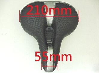 《意生》屁屁救星強力推薦 黑底中銀條紋黑獨特中空氣體導流彈簧避震舒適坐墊座墊自行車用腳踏車用舒適透氣好乘坐