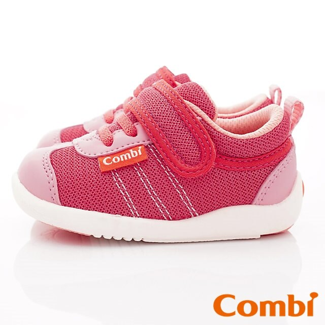 日本Combi童鞋 時尚紐約幼兒機能休閒鞋-魔力紅(加贈鞋墊)寶寶段 3