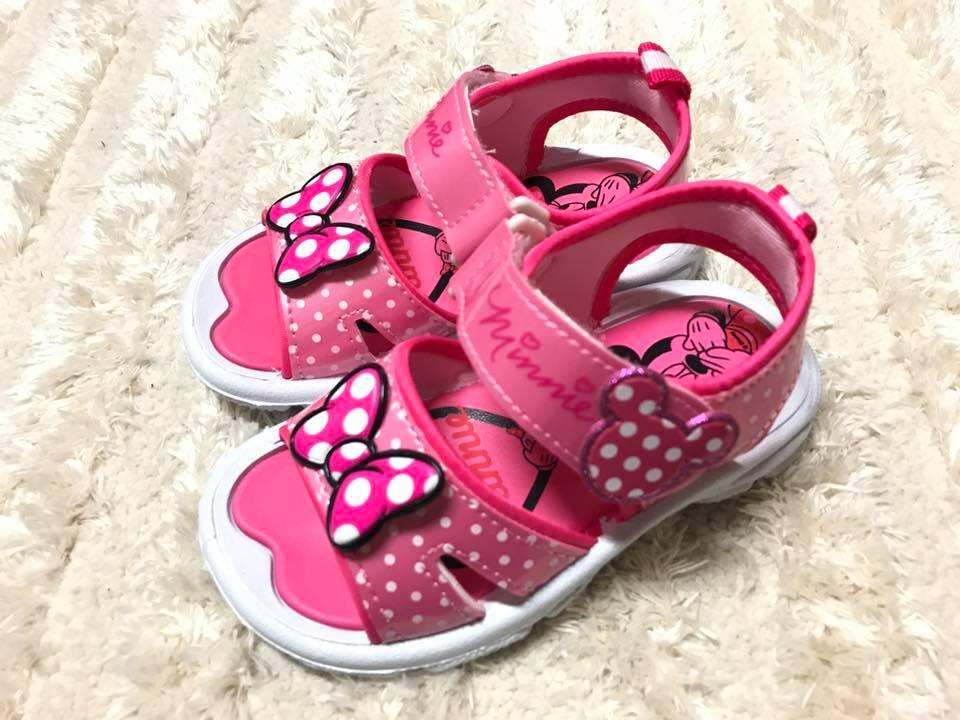 【Jolove】卡通童鞋/DISNEY迪士尼/米妮輕便涼鞋463801 粉色