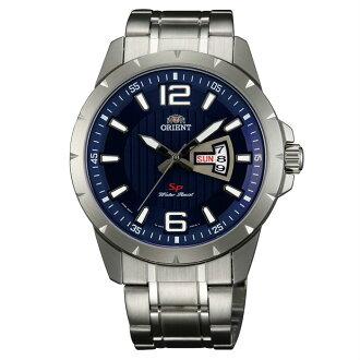Orient 東方錶(FUG1X004D)運動風石英腕錶/藍面43mm