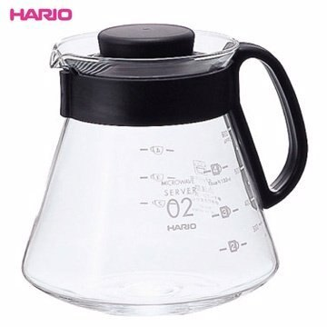 【HARIO】XVD-60B 可微波耐熱咖啡壺 600ml 咖啡壺 茶壺 玻璃壺 熱水壺 刻度 耐熱 環型把手