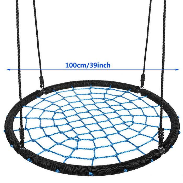 Outdoor Swing 39inch Diameter Foldable 2 Person Tree Net Swing 3