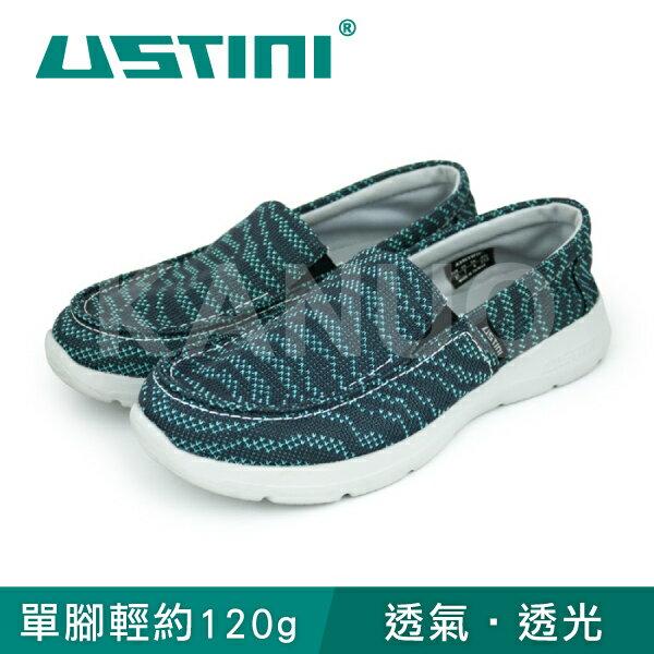 【USTINI我挺你健康鞋】超輕量涼感走路鞋女款(綠x墨黑UWI-16-GYO)