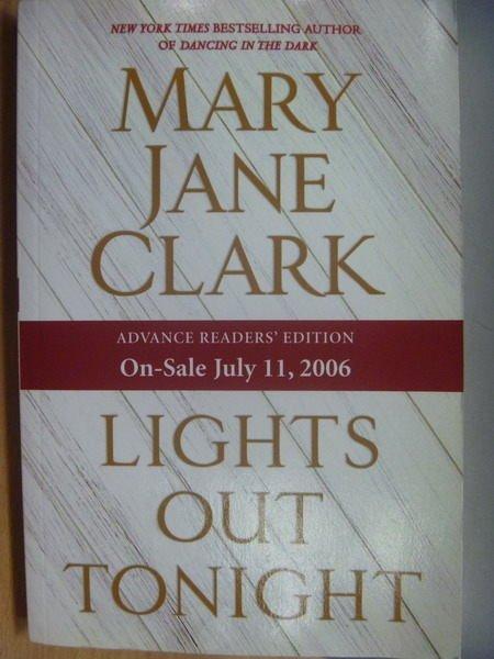 【書寶二手書T9/原文小說_YBU】Lights Out Tonight_Mary Jane Clark