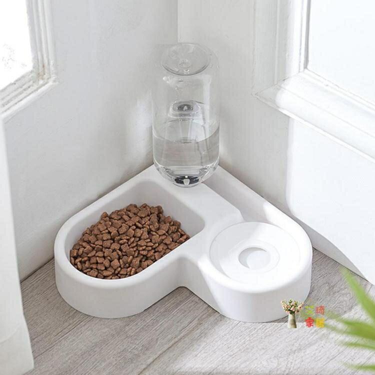 寵物飲水機 貓碗貓食狗碗保護頸椎防打翻雙碗自動飲水器不濕嘴餵食碗寵物用品 流行花園