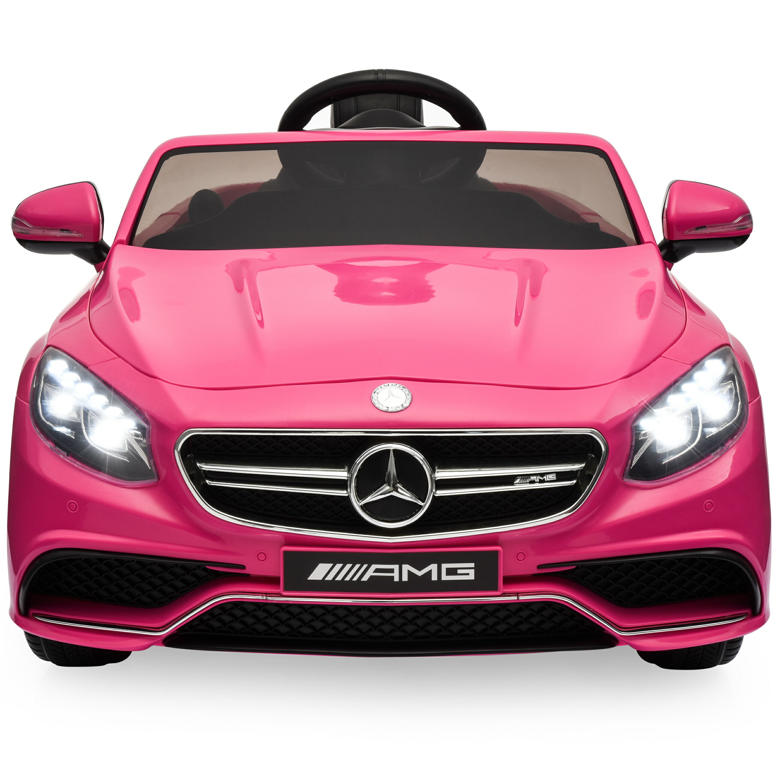 Best Choice Products 12v Kids Licensed Mercedes Benz S63 Coupe Ride On Car W Parent Control Mp3 3 Speeds Pink