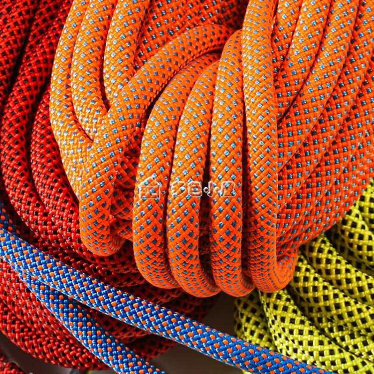 登山繩戶外登山繩攀巖繩索速降繩高空作業安全繩尼龍繩子多色小屋 【新年鉅惠】