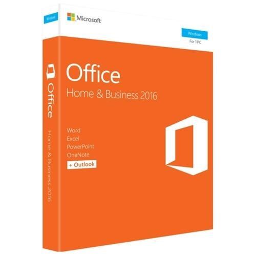 Microsoft Office 2016 Home & Business - 1 PC - Medialess - Office Suite Box - PC - English 0