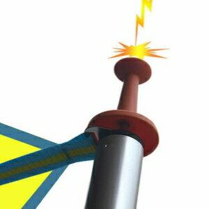 美麗大街~CFA201~ 戶外天幕桿橡膠套露營帳篷雨棚 支撐桿防雷塑料帽避雷針安全帽 5入