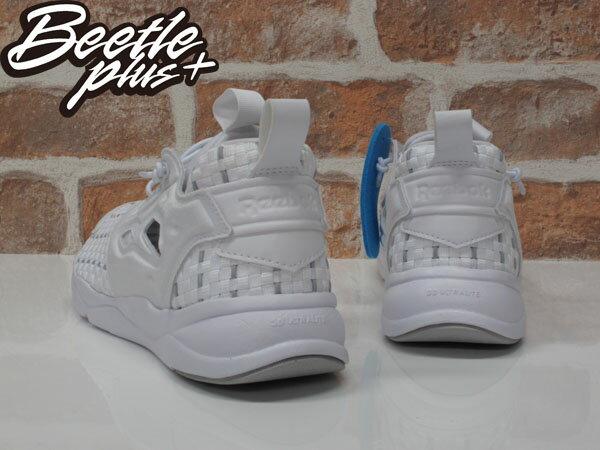 女生 BEETLE REEBOK FURYLITE NEW WOVEN 全白 編織 襪套 慢跑鞋 V70797 2