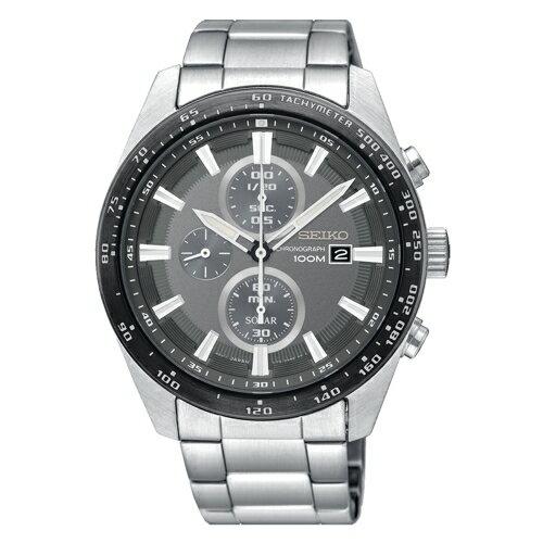 SEIKO Criteria三眼計時太陽能錶/SSC651P1(V176-0AV0G)