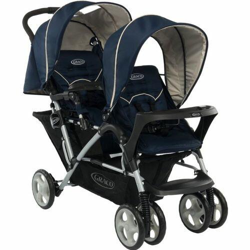★衛立兒生活館★GRACO 雙人前後座嬰幼兒手推車 城市雙人行 Stadium Duo(天海藍)