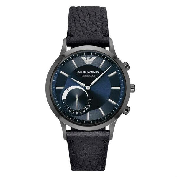 EMPORIOARMANI亞曼尼ART3004EACONNECTED藍芽智慧時尚腕錶深藍面43mm