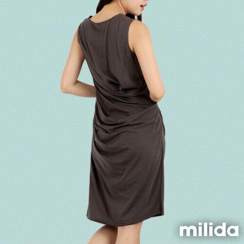 【Milida,全店七折免運】-夏季洋裝-無袖款-氣質長版洋裝 5