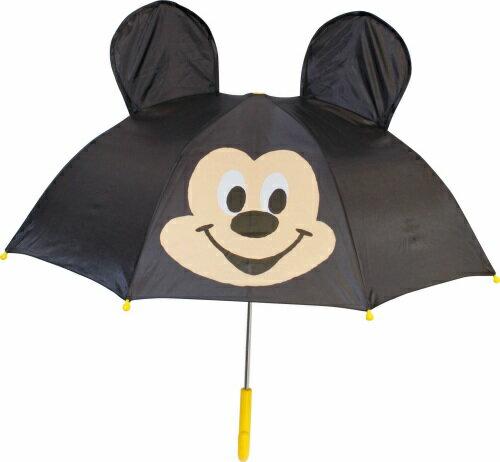 【真愛日本】16080400024立體造型雨傘47cm-MK大臉黑  迪士尼 米老鼠米奇 米妮 雨晴傘 造型傘