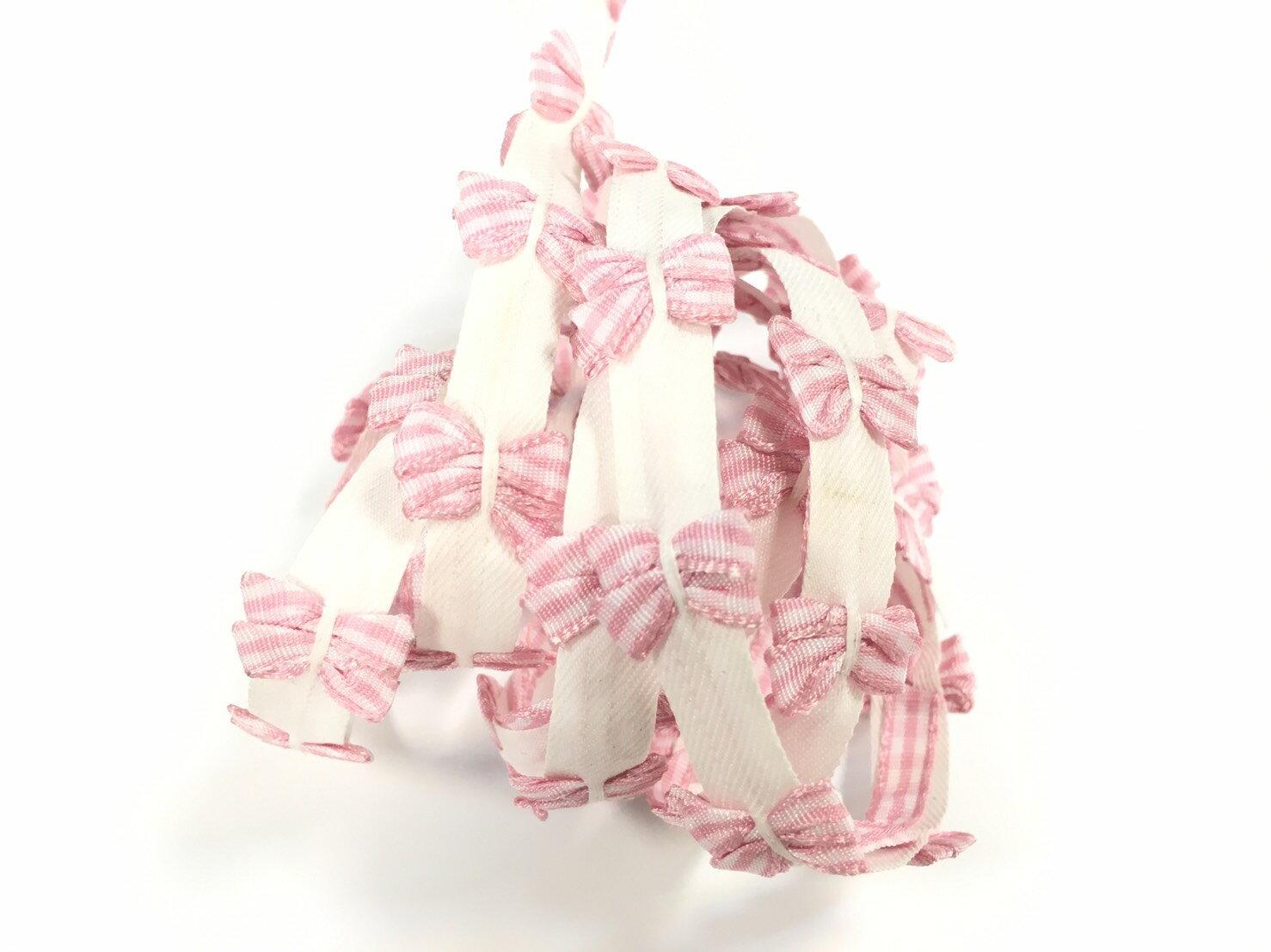 【Crystal Rose緞帶專賣店】針織格紋蝴蝶結飾緞帶(4色) 3