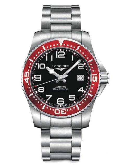 LONGINES L36954596深海征服者潛水機械腕錶/黑面紅圈41mm