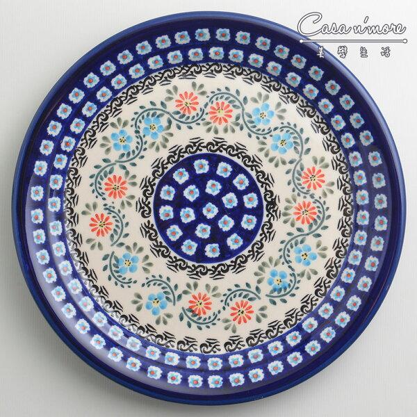 波蘭陶典雅花團系列圓形餐盤陶瓷盤菜盤點心盤圓盤沙拉盤25cm波蘭手工製