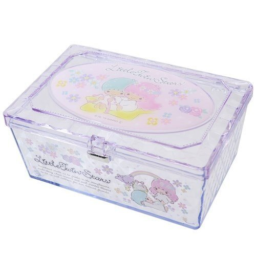 【真愛 】4930972481841 透明小物收納盒-TS花園GAB 雙子星kikilala 飾品盒 收納盒 收納罐 置物罐 儲物罐 桌上收納