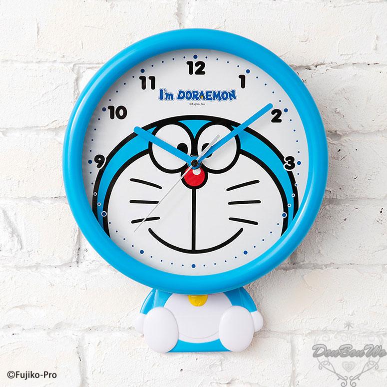 哆啦A夢居家壁掛式擺鐘指針時鐘我是小叮噹系列大臉造型坐姿959015