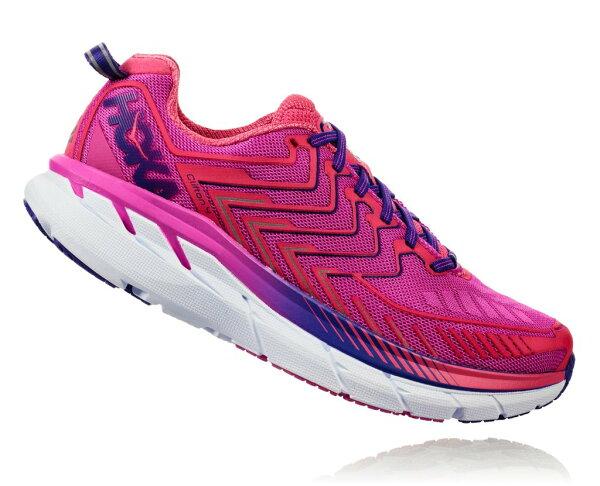 HOKAONEONEClifton4女鞋(紫粉紅)超緩震跑鞋HO1016724FHPN【胖媛的店】