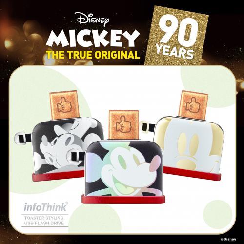 迪士尼90週年米奇系列烤吐司機造型隨身碟USB 16GB / 32GB (幻彩鐳射 / 聖誕金 /  聖誕銀) 隨身碟 0