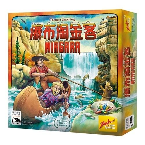 ☆快樂小屋☆【免運】瀑布淘金客 Niagara 繁體中文版 台中桌遊
