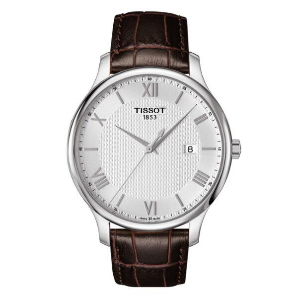 TISSOT天梭表T0636101603800TRADITION簡約羅馬時尚腕錶白面42mm