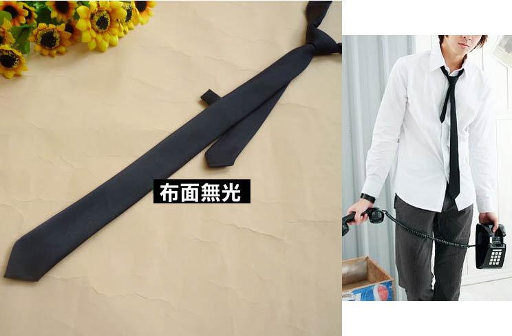 *來福*布面無光/有光黑色手打5cm窄版領帶,售價69元