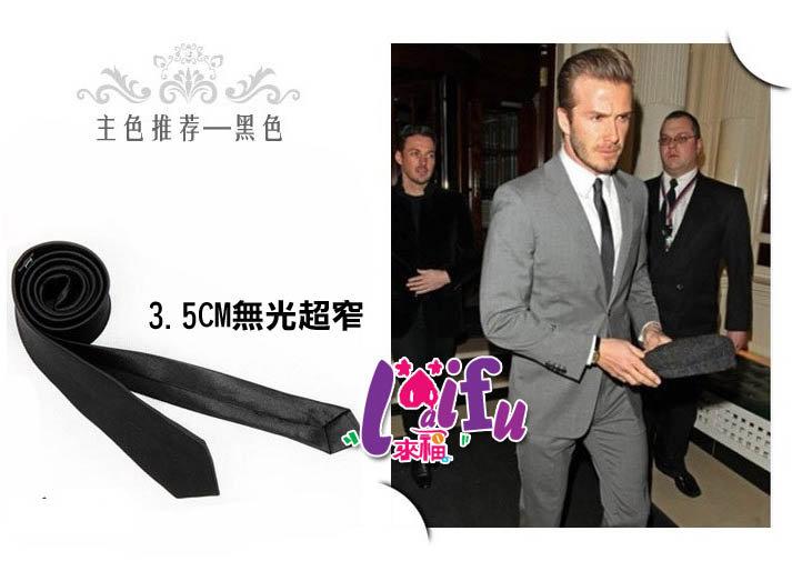 來福,K195手打超細領帶無光3.5cm黑色劍式窄版領帶窄領帶 ,售價99元