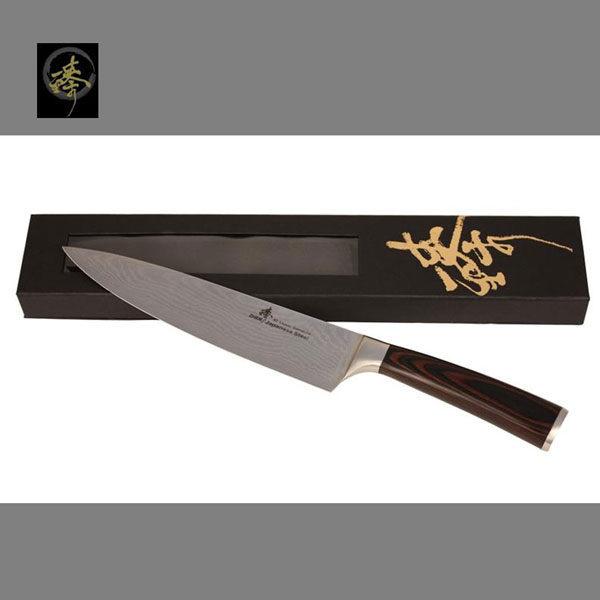 料理刀具 大馬士革鋼系列-210mm廚師刀 〔 臻〕高級廚具 DC828-02