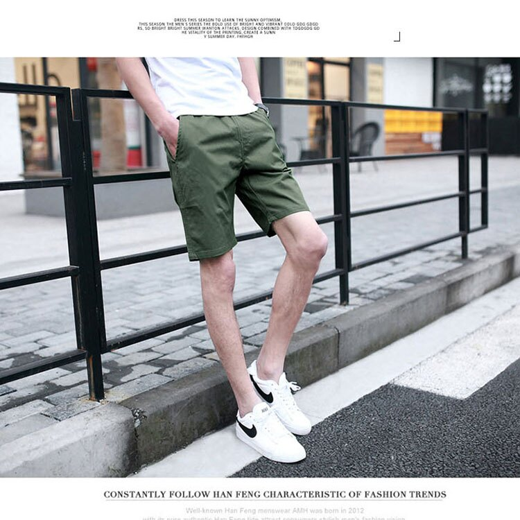 【專區任選2件$580】 最新款日系新品潮流經典純色休閒短褲 5