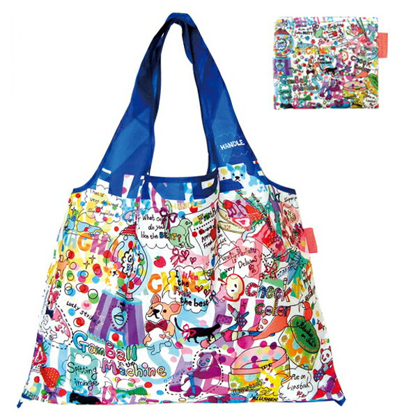 <br/><br/>  DESIGNERS JAPAN 日本PRAIRIEDOG摺疊購物袋(COMIC)★2way shopping bag<br/><br/>
