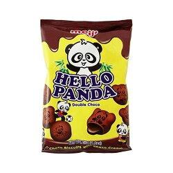 X射線【C108476】Meiji Hello Panda 夾心餅乾-雙層巧克力,點心/零嘴/餅乾/糖果/韓國代購/日本糖果/零食/伴手禮/禮盒