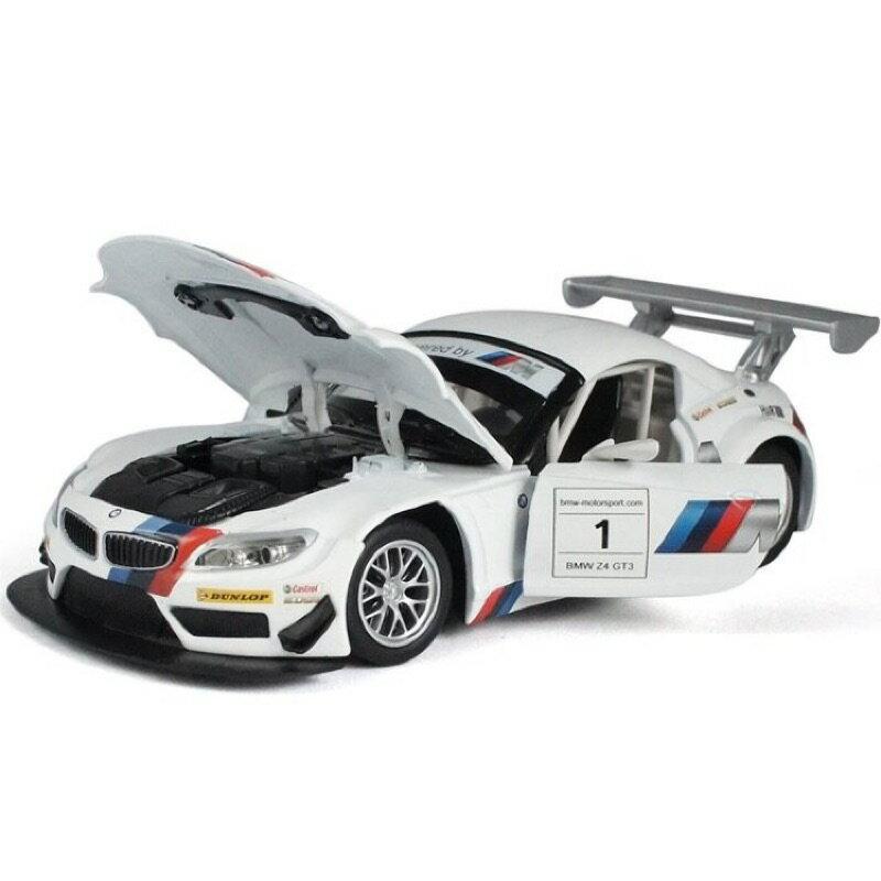 ╭。BoBo媽咪。╮盒裝 彩珀模型 1:32 寶馬 BMW Z4 GT3 賽車 聲光回力車