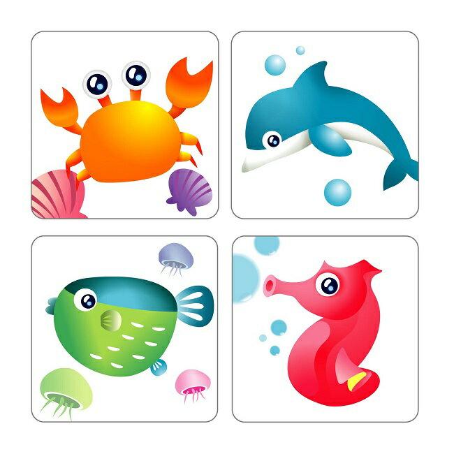【米菲寶貝】3M-正版公司貨-防滑貼片(動物6入)廁所 浴室 樓梯 安全 止滑貼片 5