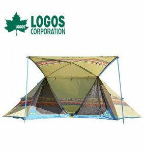 露營趣:【露營趣】中和安坑LOGOSLG71806505印地安雙峰帳500AE蒙古包山峰帳塔帳