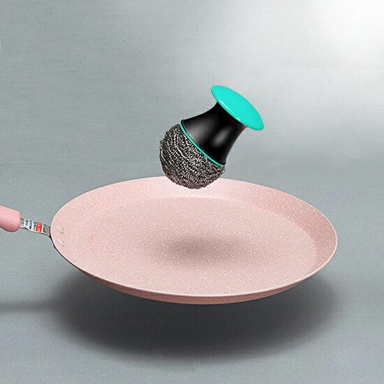 Mycolor:♚MYCOLOR♚森林菇菇短柄鍋刷不銹鋼絲球鍋刷清潔球鋼絲洗鍋刷子廚房鍋子【P366】