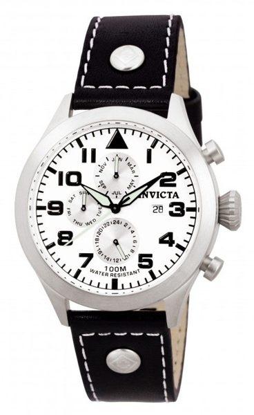 INVICTA探險家系列-經典真皮腕錶