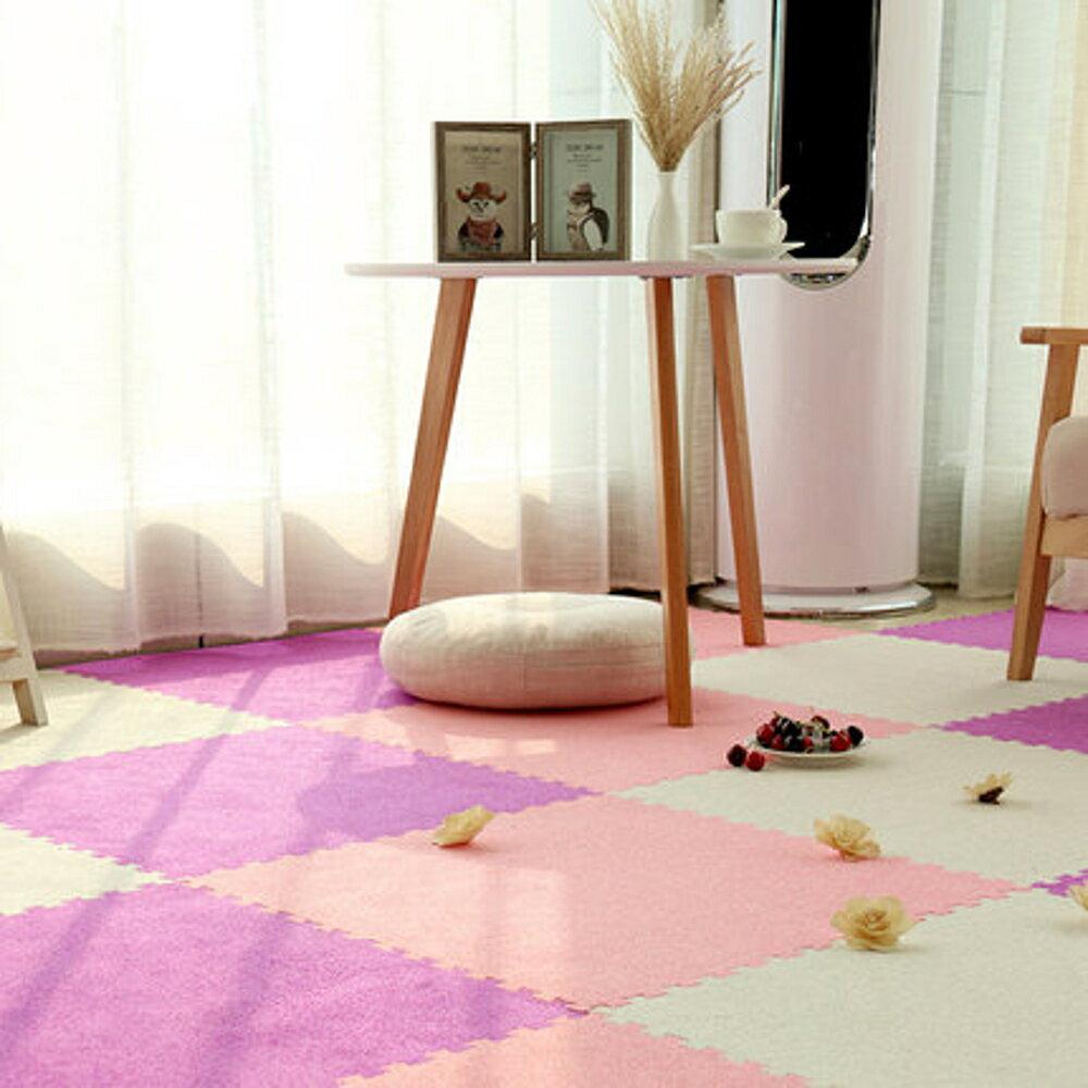 免運 遊戲地墊 泡沫地墊兒童榻榻米臥室絨面拼接大號可裁剪環保地毯