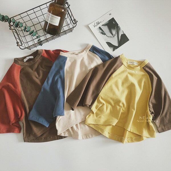 文青風復古蝙蝠袖寬鬆T恤童裝上衣T-shirt