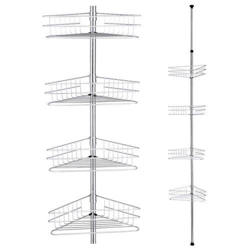 YescomUSA: Metal 4 Tier Shelf Corner Shower Caddy Bathroom Wall Rack ...