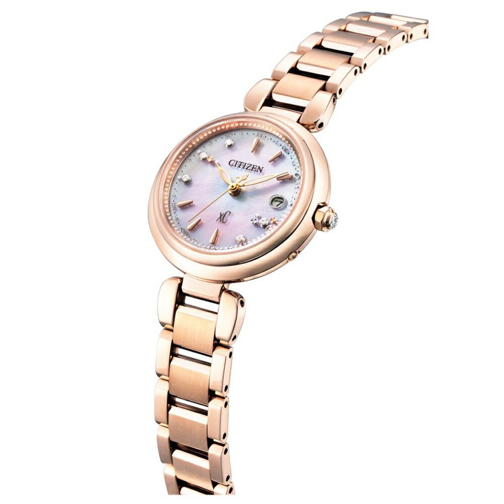 CITIZEN XC優雅女神電波光動能鈦金屬腕錶ES9467-54W