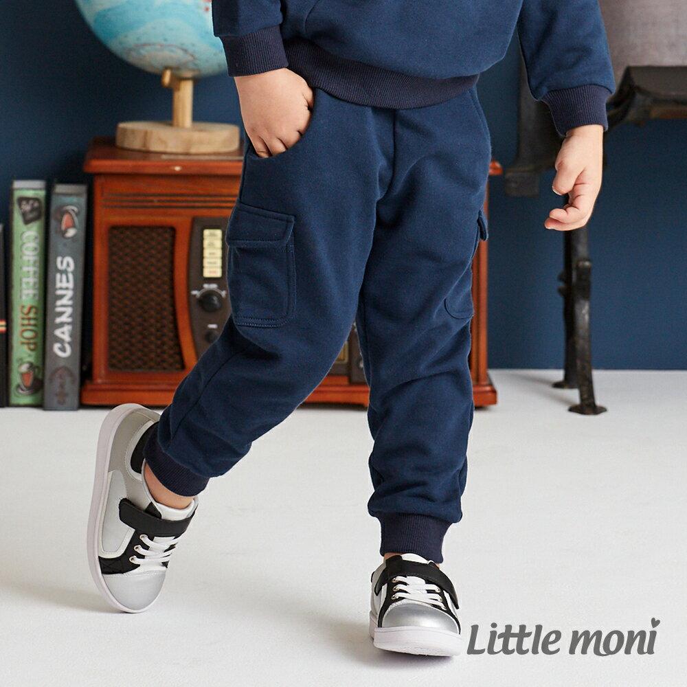 Little moni 口袋裝飾長褲-深藍(好窩生活節) 1