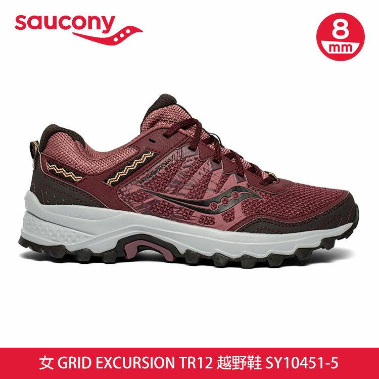 saucony 女GRID EXCURSION TR12 越野鞋SY10451-5【酒紅】 /  城市綠洲 (跑鞋、運動休閒鞋、EVERUN) 0
