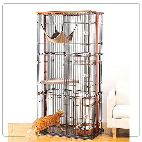 日本BONBI木製3層式貓籠貓籠附貓吊床組(免運自取9折)