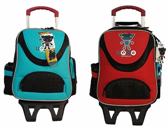 UnMe 可拆式拉桿兒童書包  背包 3318 藍綠色、橘紅