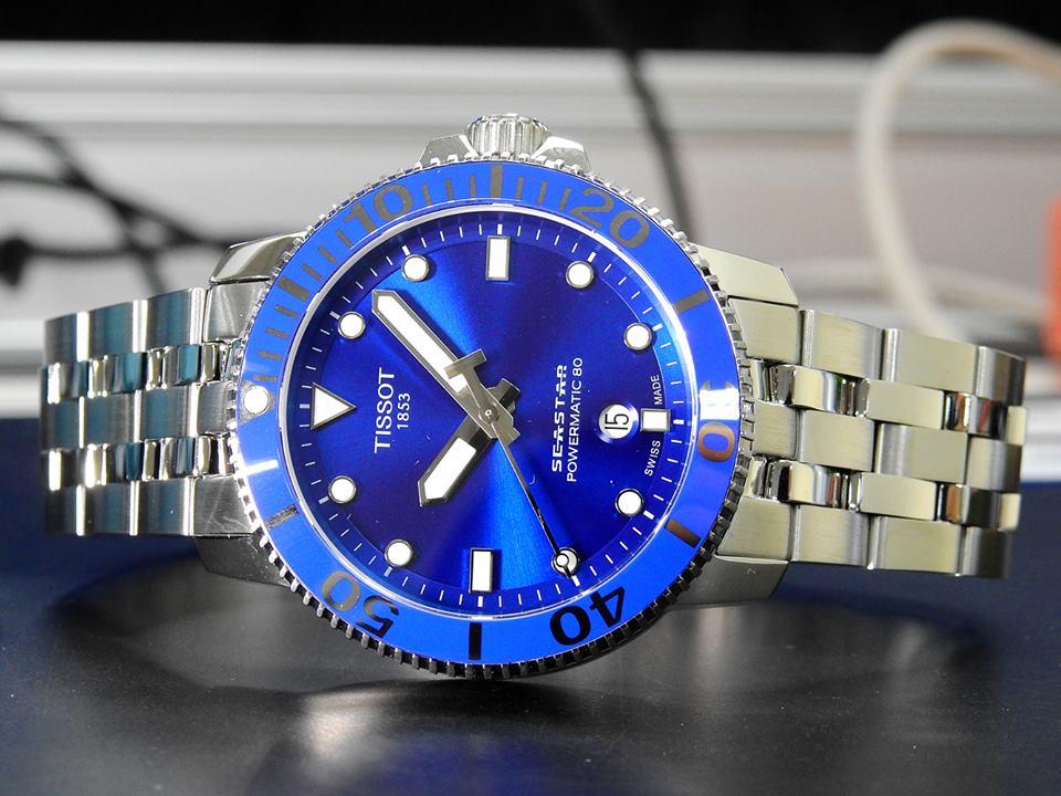 TISSOT 天梭 T1204071104100 Seastar 1000 海洋之星300米潛水機械錶 藍 43mm 3