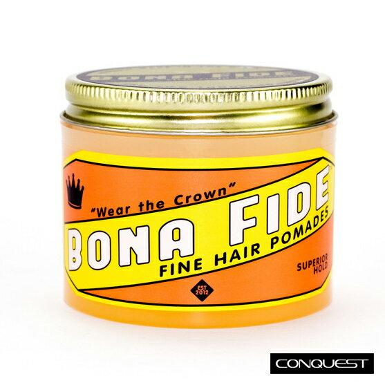 【 CONQUEST 】Bona Fide Superior Hold Pomade 水洗式髮油 線條柔順自然 清新檸檬香味